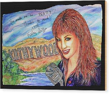 Kathywood Wood Print by Joseph Lawrence Vasile