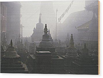Katmandu Temple,nepal Wood Print by David Edwards
