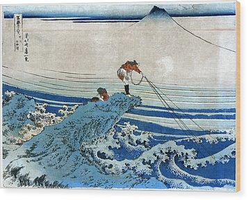 Katsushika: Fishing, C1834 Wood Print by Granger
