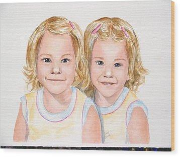 Katy And Kym Wood Print