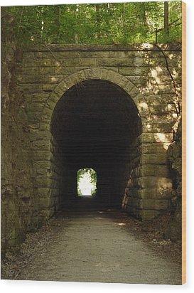 Katy Trail State Park Tunnel Wood Print by Elizabeth Sullivan