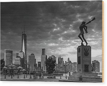 Wood Print featuring the photograph Katyn New World Trade Center In New York by Ranjay Mitra