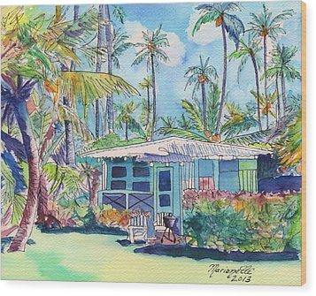 Kauai Blue Cottage 2 Wood Print