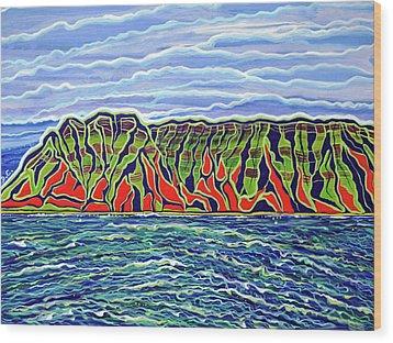 Kauai Wood Print by Debbie Chamberlin
