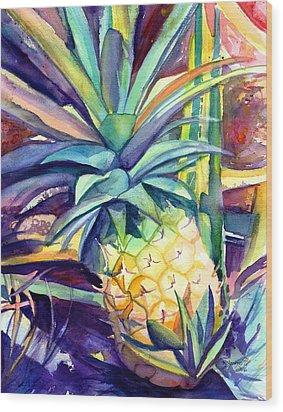 Kauai Pineapple 4 Wood Print