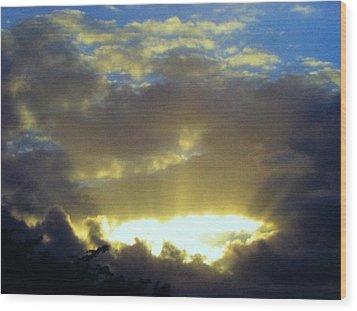 Kaua'i Sunset Wood Print