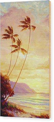 Kauai Sunset Wood Print by Jenifer Prince