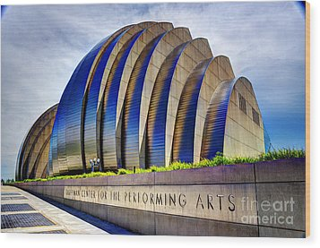 Kauffman Center For The Performing Arts Wood Print by Jean Hutchison