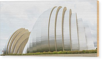Kauffman Center Performing Arts Wood Print by Pamela Williams