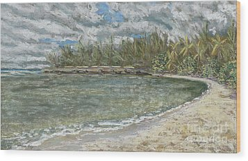 Kawela Bay Wood Print by Patti Bruce - Printscapes
