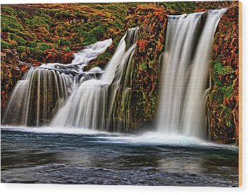 Wood Print featuring the photograph Kay Falls by Scott Mahon