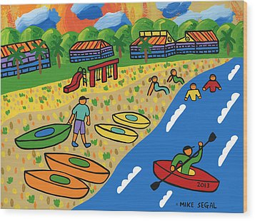 Kayak Beach - Cedar Key Wood Print