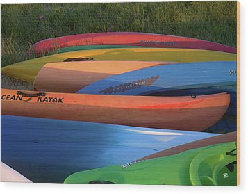 Wood Print featuring the photograph Kayak by Tom Romeo