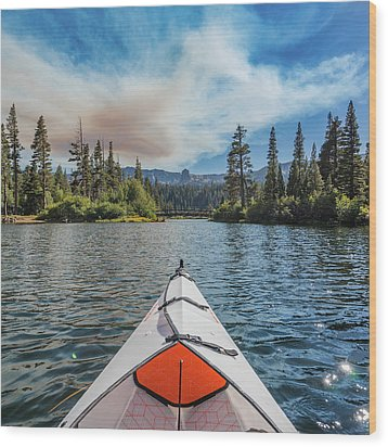 Kayak Views Wood Print
