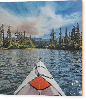 Kayak Views Wood Print