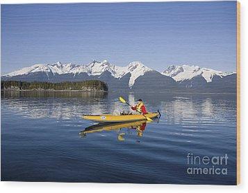 Kayaking Favorite Passage Wood Print by John Hyde - Printscapes