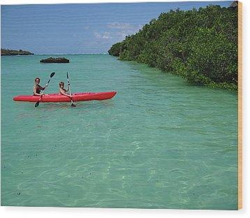 Kayaking Perfection 2 Wood Print