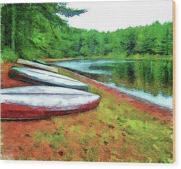 Kearney Lake Beach Wood Print