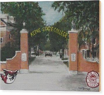 Keene State College Wood Print