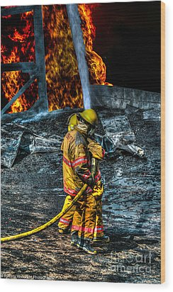 Keep Fire In Your Life No 8 Wood Print by Tommy Anderson