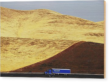 Wood Print featuring the photograph Keep On Western Truckin On Hwy 152 Ca by John King