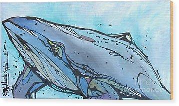 Keep Swimming Wood Print by Nicole Gaitan