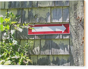 Wood Print featuring the digital art Keep To The Right by Barbara S Nickerson