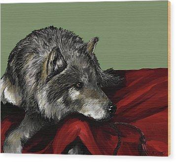 Wood Print featuring the digital art Keeper Of The Hood by Meagan  Visser