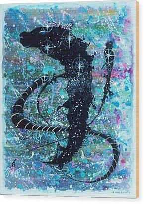 Keeper Of The Stargate Wood Print by Lee Pantas
