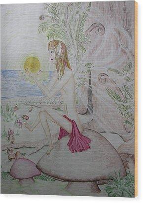 Keeper Of The Sun Wood Print by Carol Frances Arthur