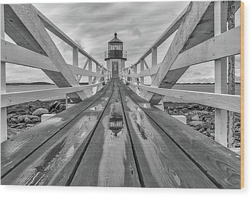 Wood Print featuring the photograph Keeper's Walkway At Marshall Point by Rick Berk