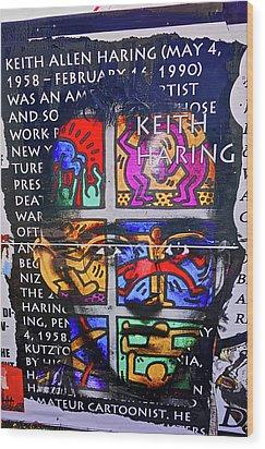 Keith Haring  Wood Print