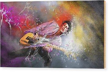 Keith Richards 02 Wood Print by Miki De Goodaboom