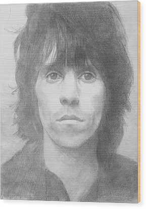 Keith Richards '72 Wood Print by Glenn Daniels