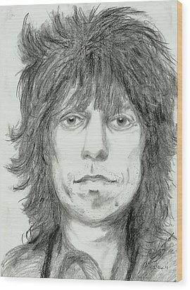 Keith Richards Wood Print by Alison Hayes