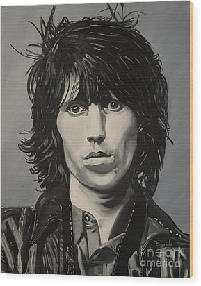 Keith Richards Wood Print by Mary Capriole