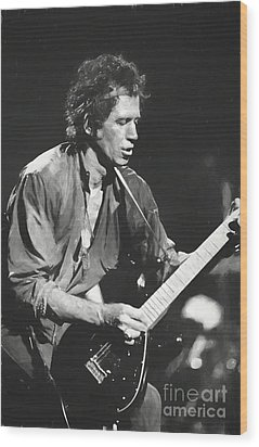 Keith Richards Painting Wood Print