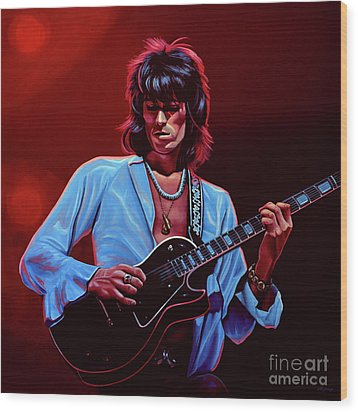 Keith Richards The Riffmaster Wood Print