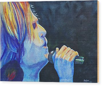 Keith Urban In Concert Wood Print by Susan DeLain