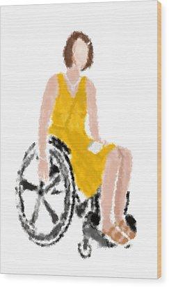 Wood Print featuring the digital art Kelly by Nancy Levan