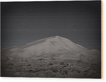 Kelso Dunes At Night Wood Print