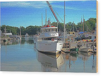 Wood Print featuring the photograph Kennebunk, Maine - 2 by Jerry Battle