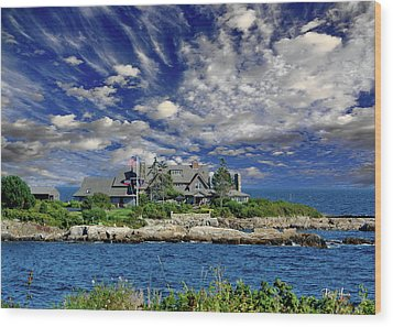 Kennebunkport, Maine - Walker's Point Wood Print by Russ Harris