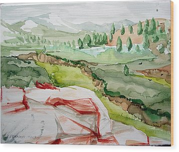 Kennedy Meadows 2 Wood Print by Amy Bernays