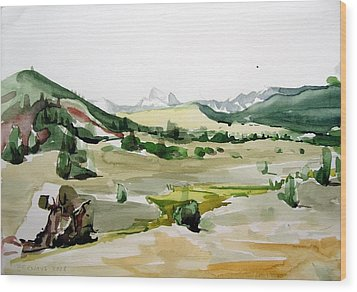Kennedy Meadows The Dome Lands Wood Print by Amy Bernays