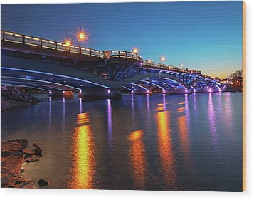 Wood Print featuring the photograph Kenneth F. Burns Memorial Bridge by Juergen Roth