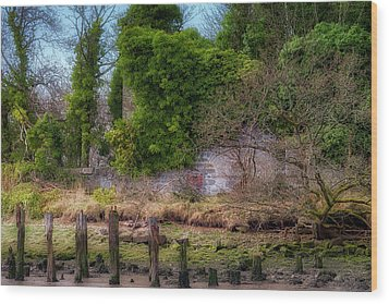 Wood Print featuring the photograph Kennetpans Distillery Ruins by Jeremy Lavender Photography