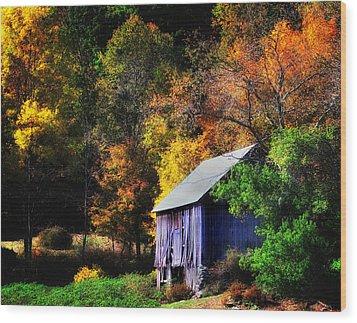 Kent Hollow II - New England Rustic Barn Wood Print by Thomas Schoeller