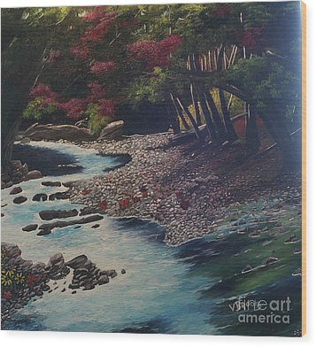 Kentucky   Creek Wood Print by Vickie Brooks