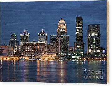 Kentucky Blue Wood Print by Andrea Silies
